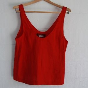 Reformation Red Linen Top